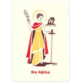 Bénédictines de Vénières - Sainte Albine Carte double