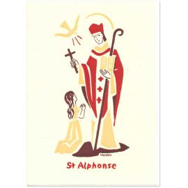 Bénédictines de Vénières - Saint Alphonse Carte double