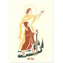 Saint Ariel Carte double avec enveloppe