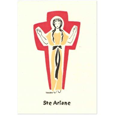 Bénédictines de Vénières - Sainte Ariane Carte double
