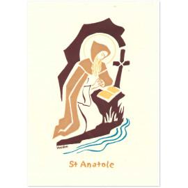 Bénédictines de Vénières - Saint Anatole Carte double