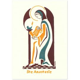 Bénédictines de Vénières - Sainte Anastasie Carte double
