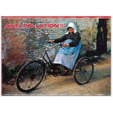 A vélo anti pollution !!!