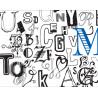 Lettres et typos à colorier et à griffonner