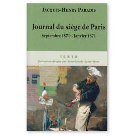 Journal du siège de Paris