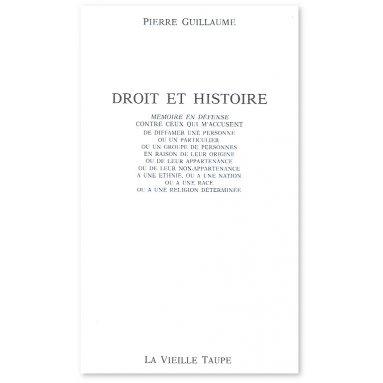 Pierre Guillaume - Droit et histoire
