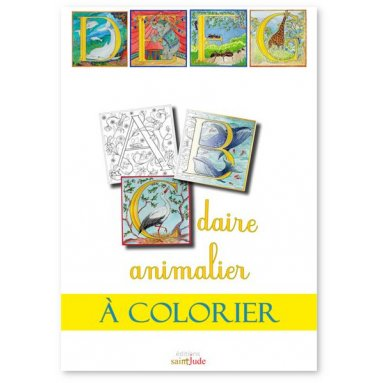 Roselyne Lesueur Abecedaire Animalier A Colorier Livres En Famille