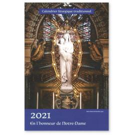Calendrier liturgique traditionnel 2021 en l'honneur de Notre Dame