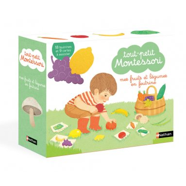 Maria Montessori - Mes fruits et légumes en feutrine