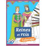 Reines et Rois - Coloriage