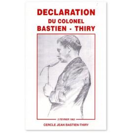 Déclaration du colonel Bastien-Thiry