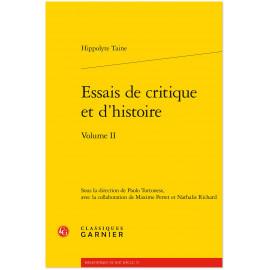 Hyppolyte Taine - Essais de critique et d'histoire - Tome 2