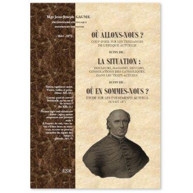 Mgr Jean-Joseph  Gaume - Où allons-nous ? la Situation - Où en sommes-nous ?