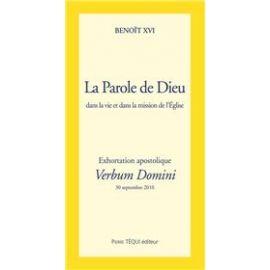 Verbum Domini - Exhortation apostolique
