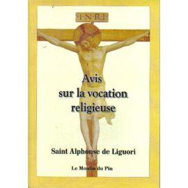 Avis sur la vocation religieuse