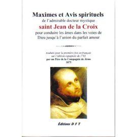 Maximes et avis spirituels