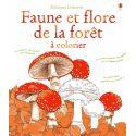 Faune et flore de la forêt à colorier