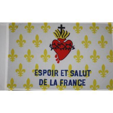 Drapeau Fleurf de lys - Espoir et salut de la France