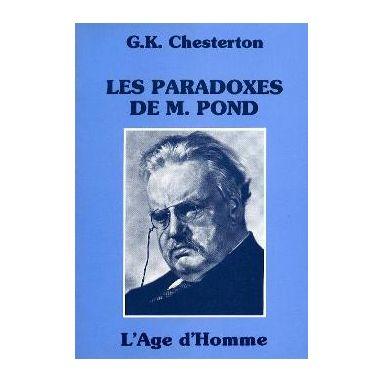 Les paradoxes de M. Pond