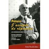"""Pétain """"j'accepte de répondre"""""""