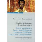 Homélies sur les épîtres de saint Paul - Tome 3