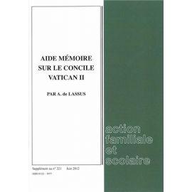 Aide mémoire sur le Concile Vatican II